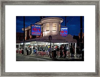 Pat's Steaks Framed Print