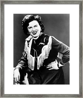 Patsy Cline, C. 1956 Framed Print