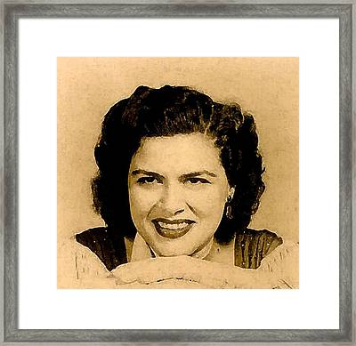 Patsy Cline Framed Print by Jeff DOttavio