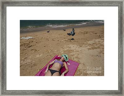 Framed Print featuring the photograph Pattaya Beach by Setsiri Silapasuwanchai