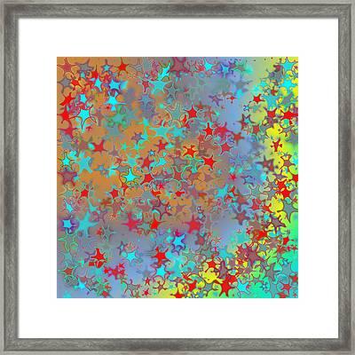 Framed Print featuring the digital art Pattern 191 by Marko Sabotin