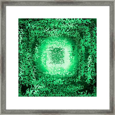 Framed Print featuring the digital art Pattern 199 by Marko Sabotin