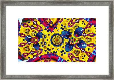 Pattern 2 Intersect Framed Print by Ron Bissett