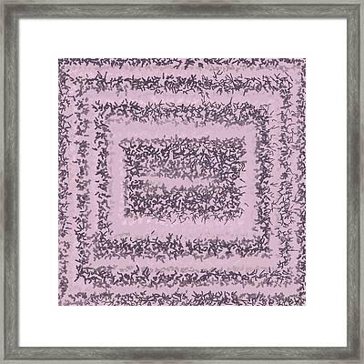 Framed Print featuring the digital art Pattern 200 by Marko Sabotin