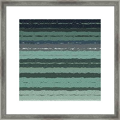 Framed Print featuring the digital art Pattern 203 by Marko Sabotin