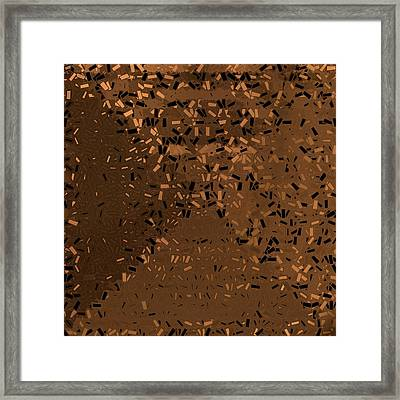 Framed Print featuring the digital art Pattern 204 by Marko Sabotin