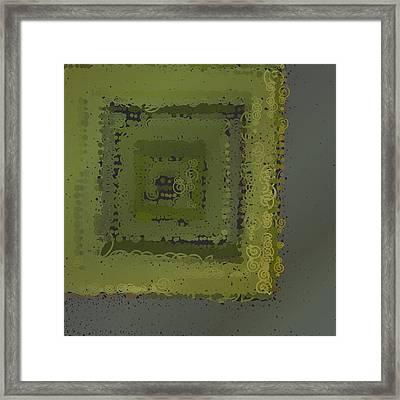 Framed Print featuring the digital art Pattern 208 by Marko Sabotin