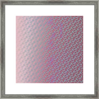 Framed Print featuring the digital art Pattern 212 by Marko Sabotin