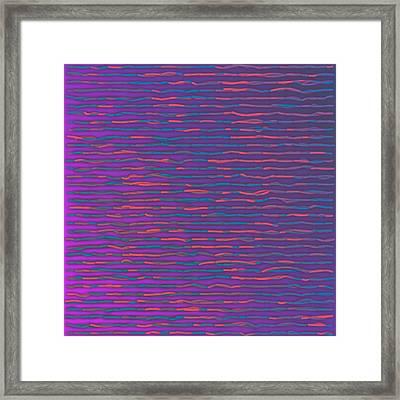 Framed Print featuring the digital art Pattern 214 by Marko Sabotin