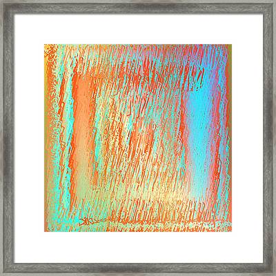 Framed Print featuring the digital art Pattern 216 by Marko Sabotin
