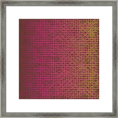 Framed Print featuring the digital art Pattern 217 by Marko Sabotin