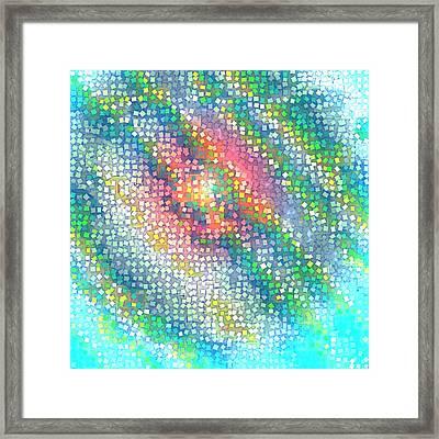 Framed Print featuring the digital art Pattern 229 by Marko Sabotin