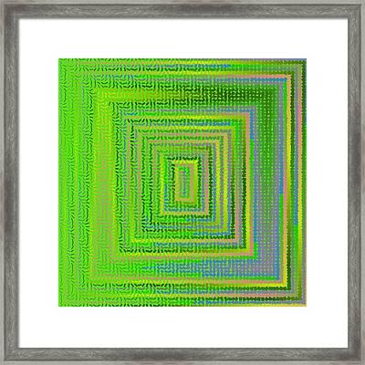 Framed Print featuring the digital art Pattern 231 by Marko Sabotin
