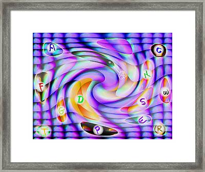 Pattern 240_ Lessons Framed Print