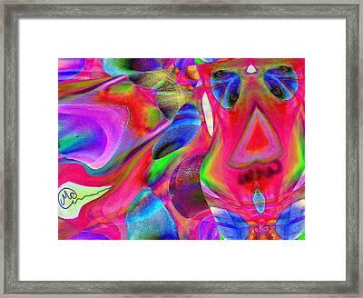 Pattern 246 _ Wow  Framed Print