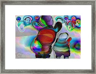Pattern 270 _ Welcome Framed Print