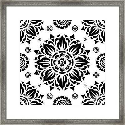 Pattern Art 01-2 Framed Print by Bobbi Freelance