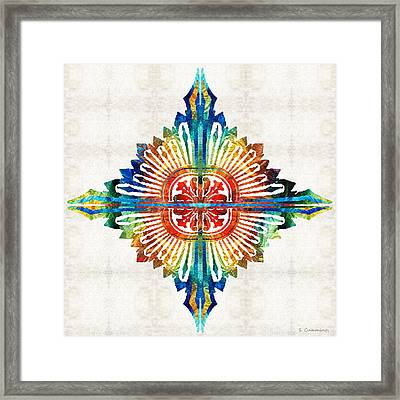 Pattern Art - Color Fusion Design 1 By Sharon Cummings Framed Print by Sharon Cummings