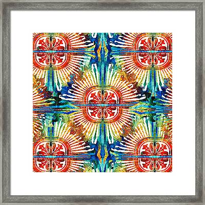 Pattern Art - Color Fusion Design 2 By Sharon Cummings Framed Print by Sharon Cummings