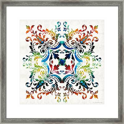 Pattern Art - Color Fusion Design 7 By Sharon Cummings Framed Print by Sharon Cummings