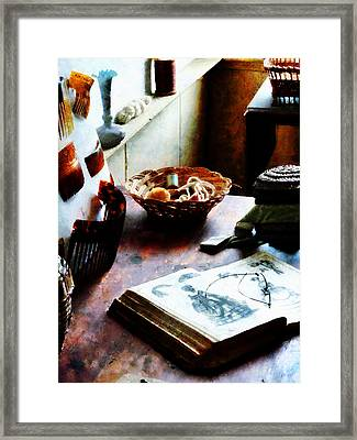Pattern Book Framed Print by Susan Savad