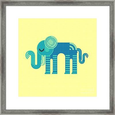 Pattern Elephant Framed Print