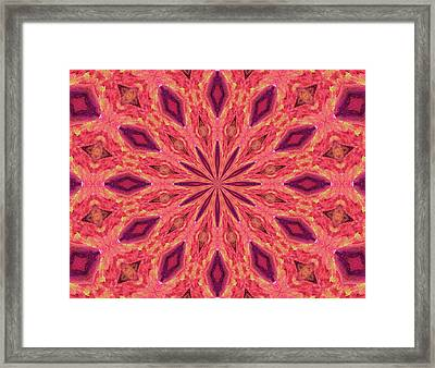 Framed Print featuring the digital art Pattern II by Elizabeth Lock