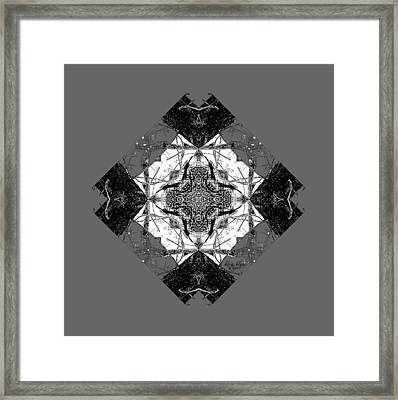 Pattern In Black White Framed Print