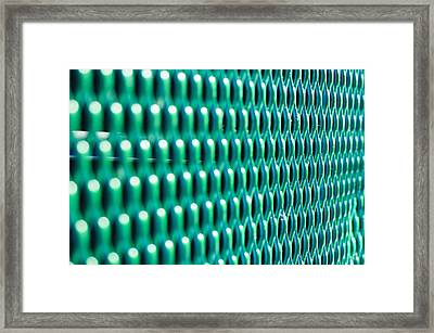 Pattern In Green Framed Print