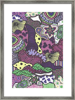 Pattern Jungle Framed Print by Jill Lenzmeier