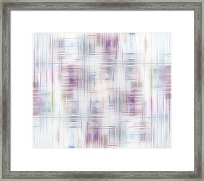 Pattern Of Colors Framed Print by Gina Lee Manley