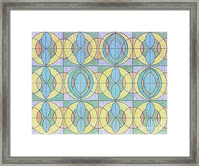 Pattern Of Serenity Framed Print by Norma Appleton