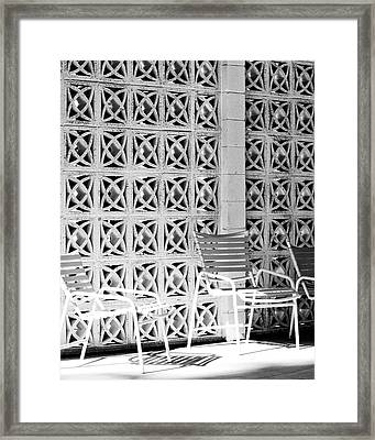 Pattern Recognition Palm Springs Framed Print by William Dey