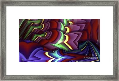 Pattern Framed Print by Ron Bissett