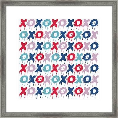 Pattern X O  Framed Print by Mark Ashkenazi