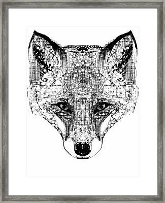 Patterned Fox Framed Print by Harold Belarmino