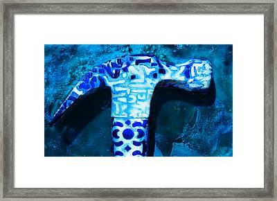 Patterned Hammer Framed Print