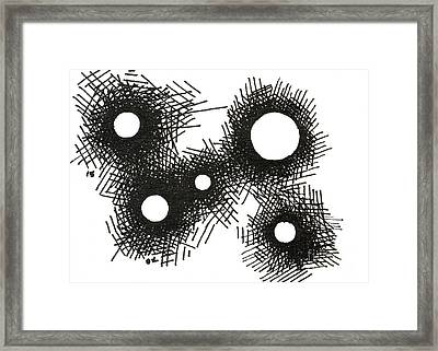 Patterns 1 2015 - Aceo Framed Print