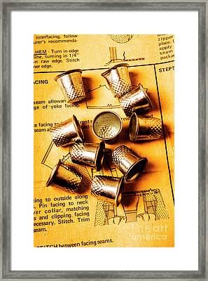 Patterns And Thimbles Framed Print