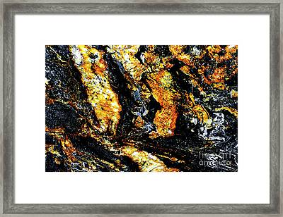 Framed Print featuring the photograph Patterns In Stone - 185 by Paul W Faust - Impressions of Light