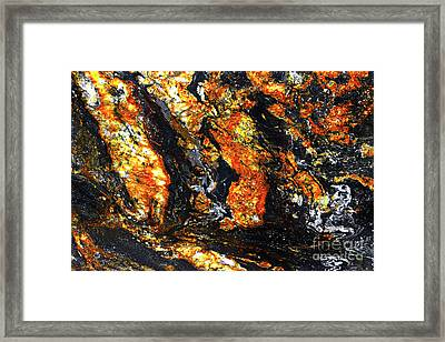 Framed Print featuring the photograph Patterns In Stone - 186 by Paul W Faust - Impressions of Light