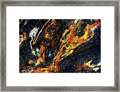 Framed Print featuring the photograph Patterns In Stone - 187 by Paul W Faust - Impressions of Light
