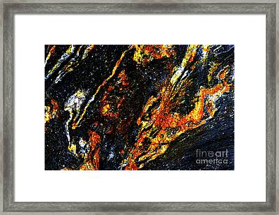 Framed Print featuring the photograph Patterns In Stone - 188 by Paul W Faust - Impressions of Light
