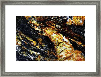 Framed Print featuring the photograph Patterns In Stone - 190 by Paul W Faust - Impressions of Light