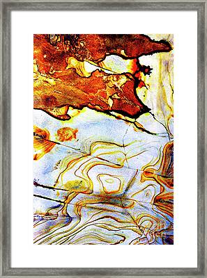 Framed Print featuring the photograph Patterns In Stone - 201 by Paul W Faust - Impressions of Light