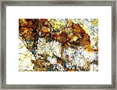 Framed Print featuring the photograph Patterns In Stone - 210 by Paul W Faust - Impressions of Light