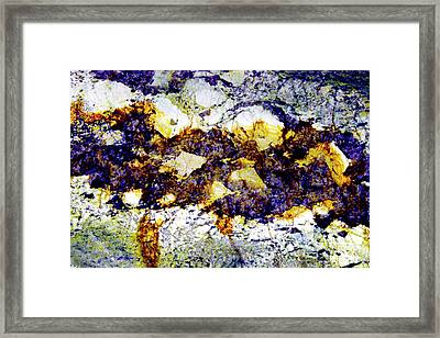 Framed Print featuring the photograph Patterns In Stone - 212 by Paul W Faust - Impressions of Light