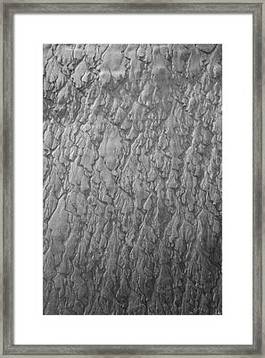 Patterns In The Sand Framed Print by Tim Grams