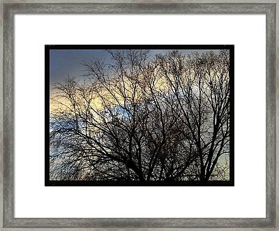 Patterns In The Sky Framed Print