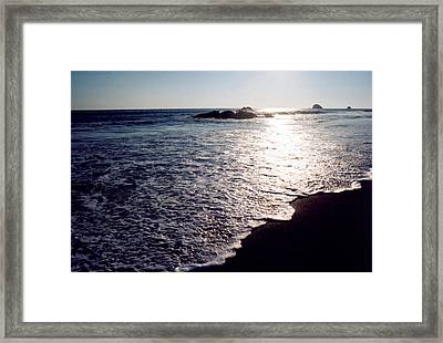 Patterns Of Light 2 Framed Print by Lyle Crump